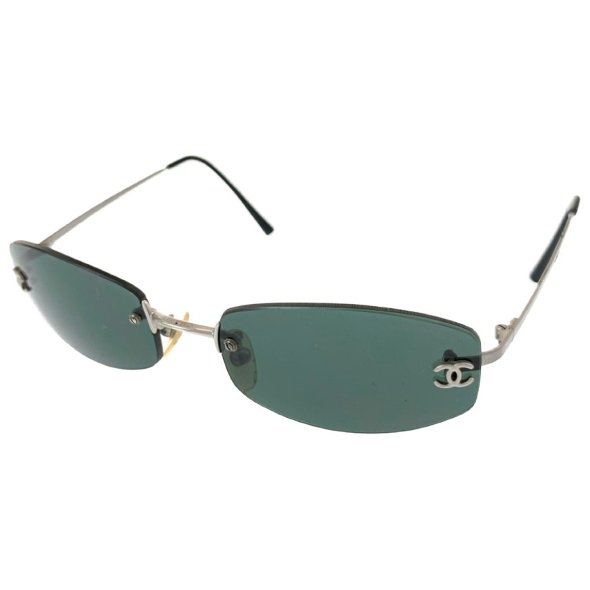 Chanel N Green Sunglasses for Women N