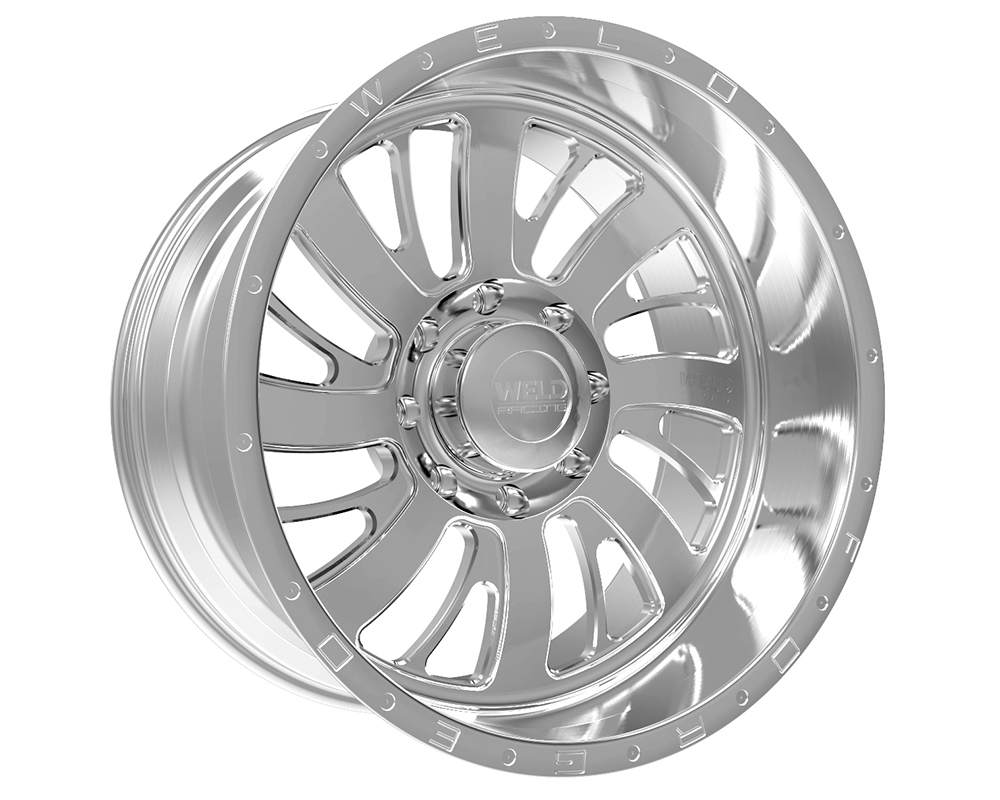 Weld Racing 81D3-22454-769L XT Falkata 22x14 5x4.5 -76mm Brushed w/Tinted Clear Lip w/Rivets & Text