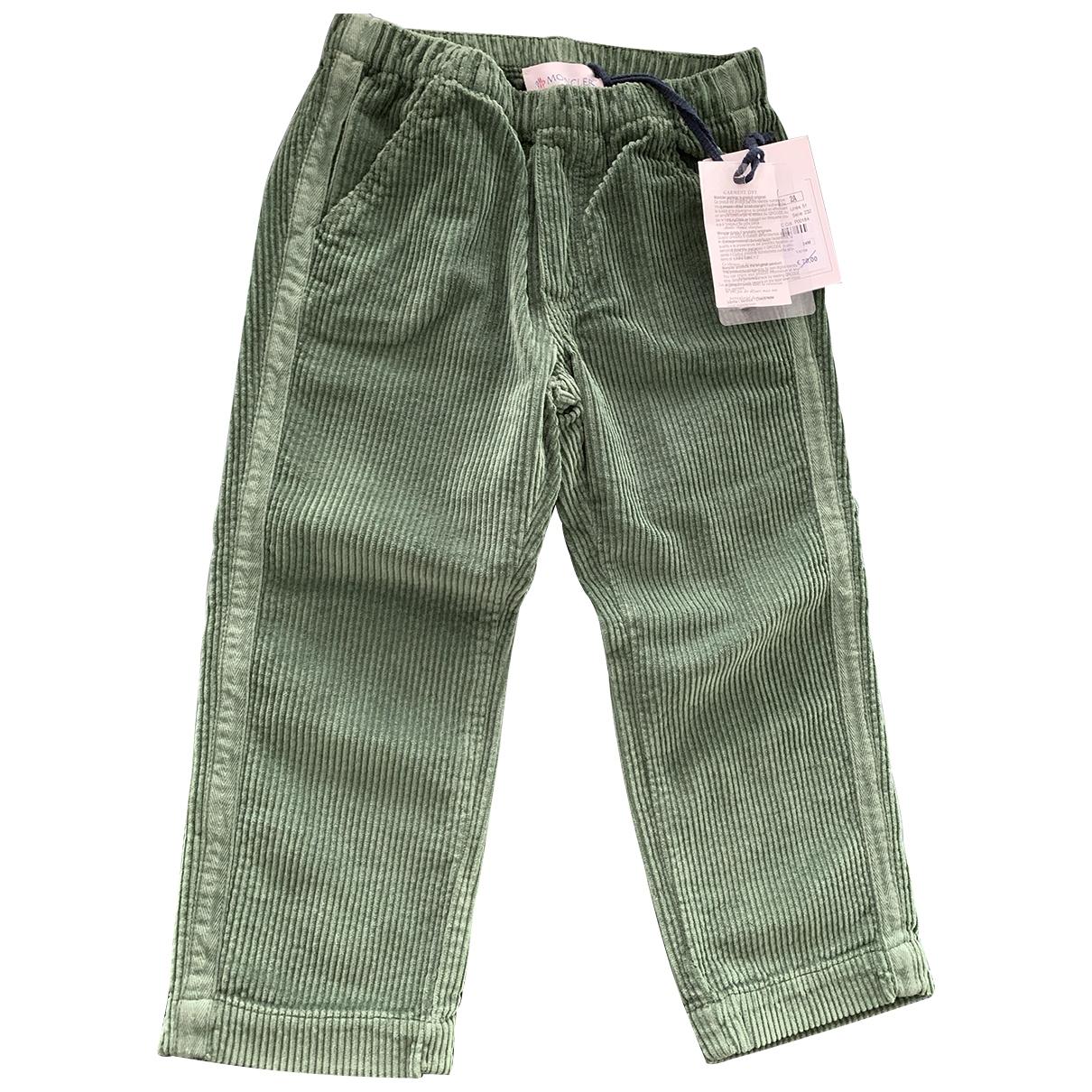 Moncler - Pantalon   pour enfant en coton - vert