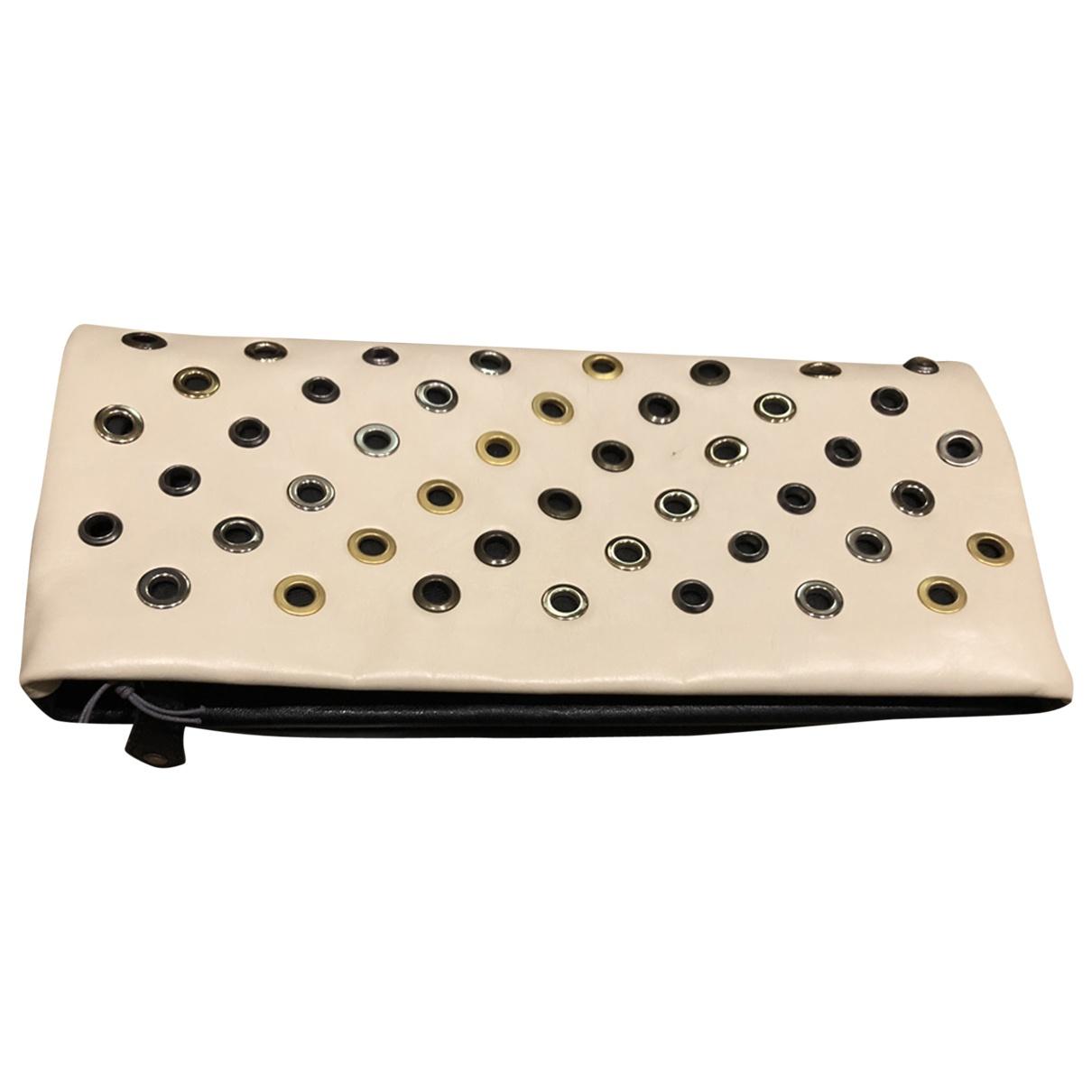 Pierre Balmain \N Beige Leather Clutch bag for Women \N
