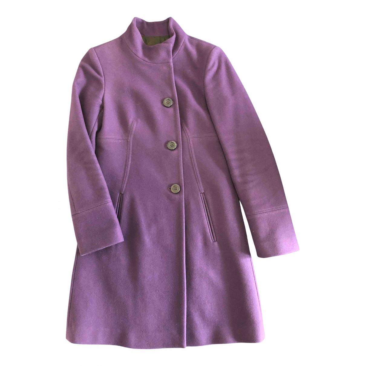 Pinko N Purple Wool coat for Women 40 IT