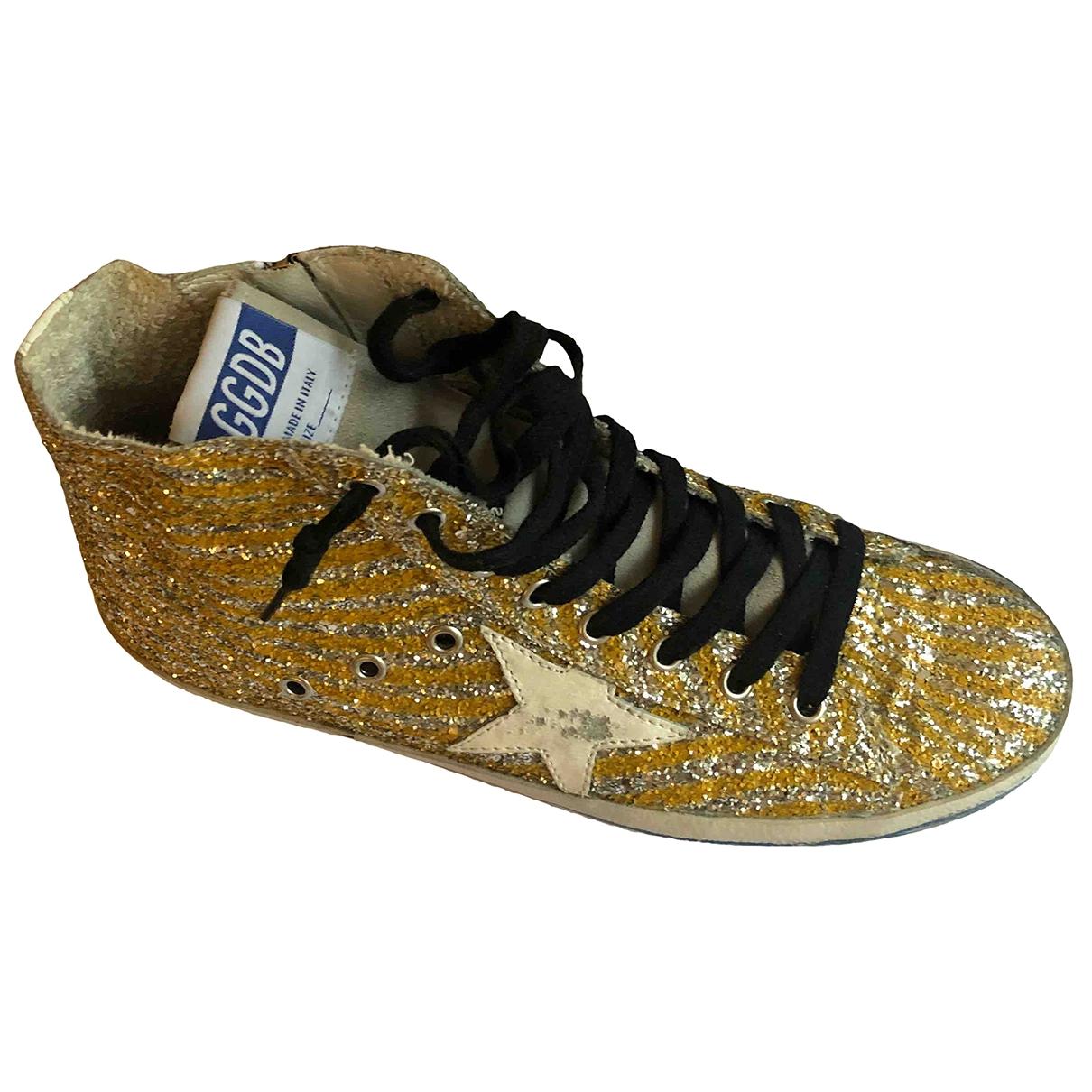 Golden Goose Francy Sneakers in  Gold Mit Pailletten