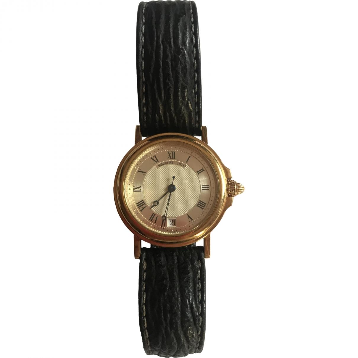Breguet - Montre Marine Grande Date pour homme en or jaune - noir