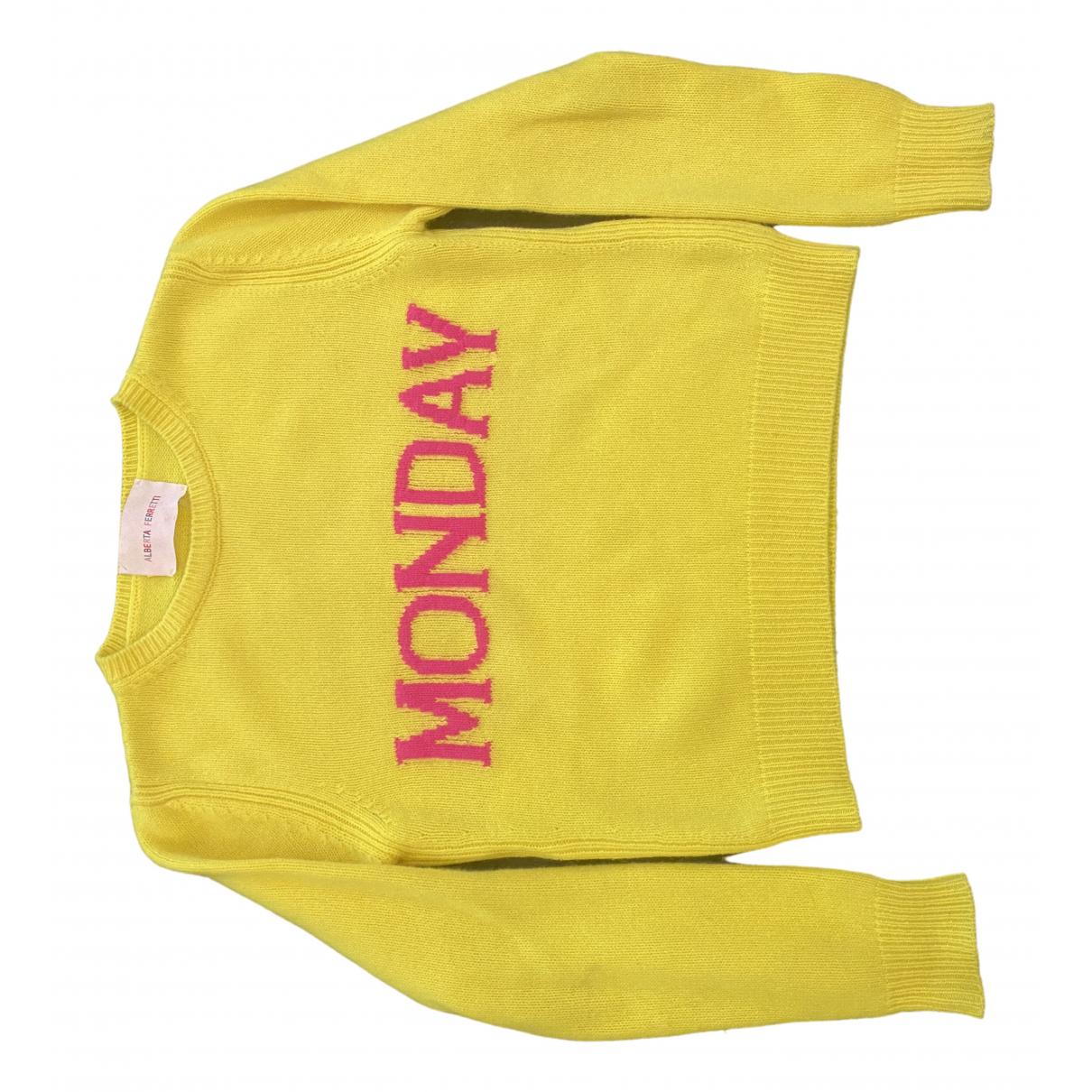 Alberta Ferretti \N Yellow Wool Knitwear for Women 40 IT