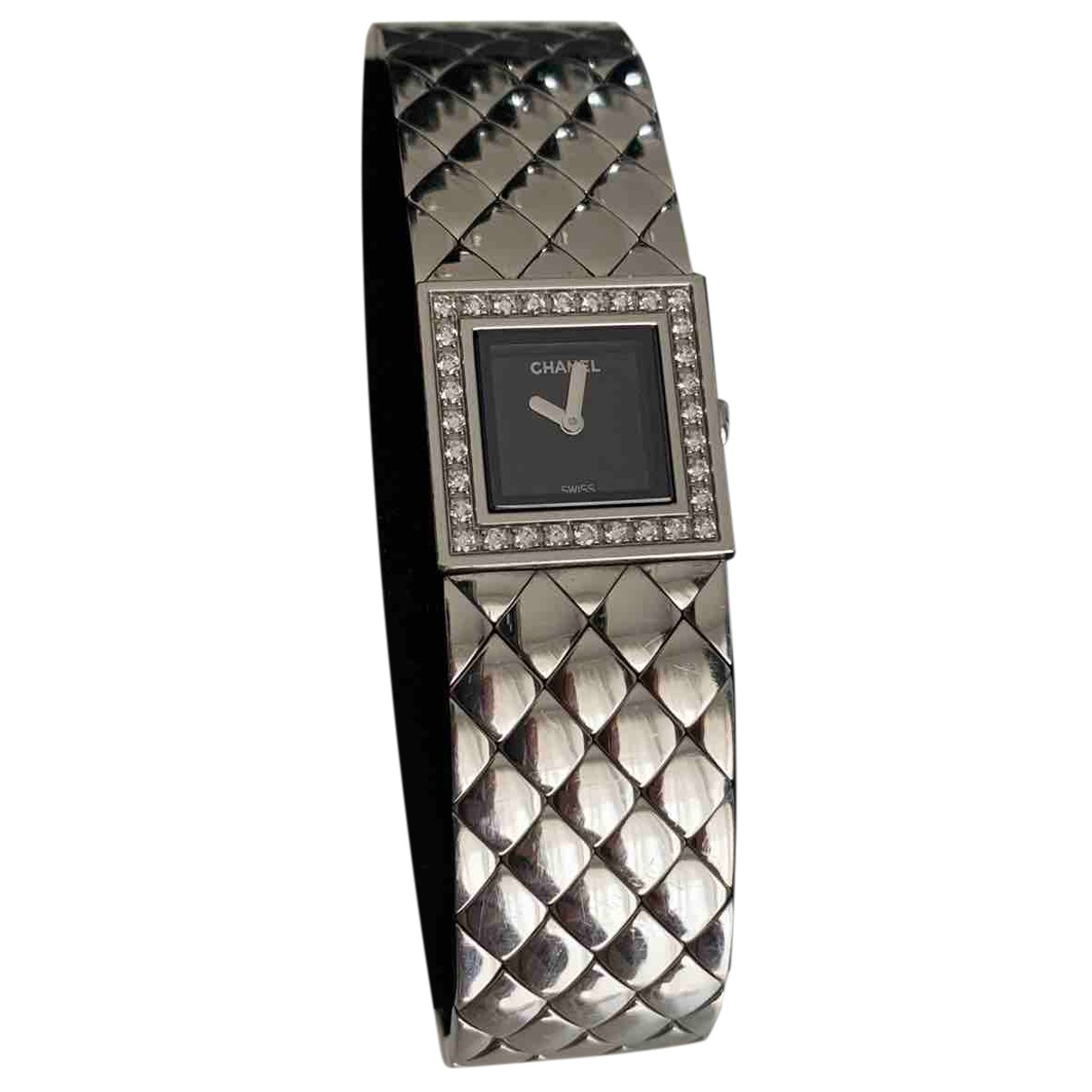Chanel - Montre Matelassee pour femme en acier - argente