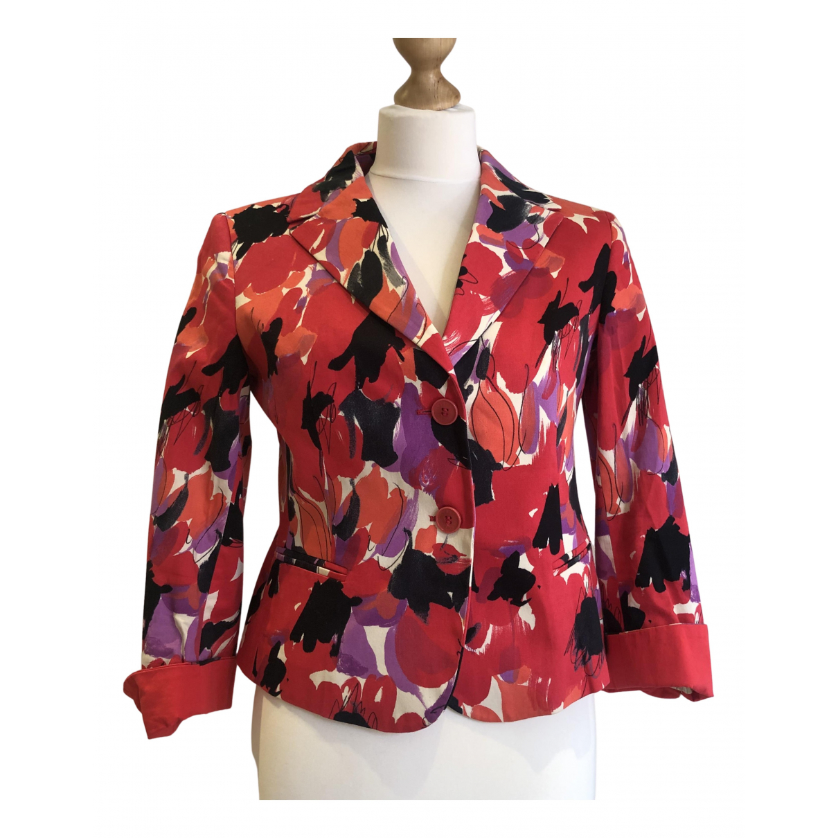 Max Mara Weekend \N Red Cotton jacket for Women 40 IT