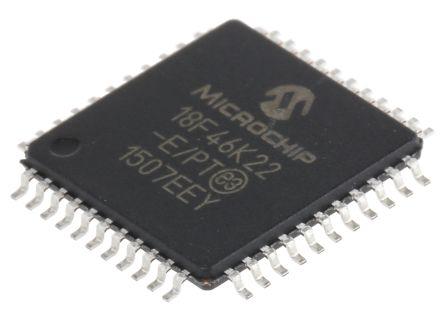 Microchip PIC18F46K22-E/PT, 8bit PIC Microcontroller, PIC18F, 64MHz, 64 kB Flash, 44-Pin TQFP (2)