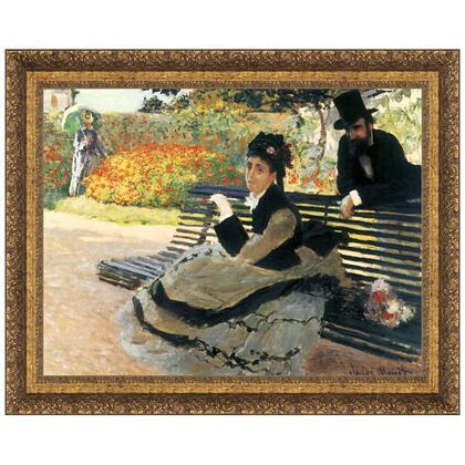 DA3872 27X22 Camille Monet On A Garden