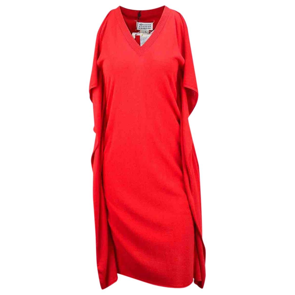 Maison Martin Margiela - Robe   pour femme en coton - rouge