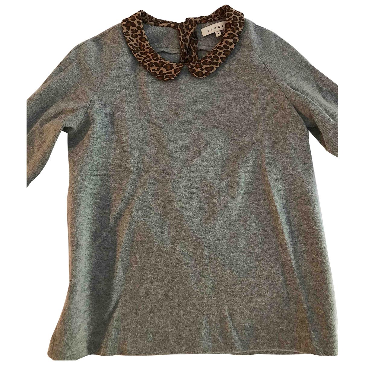 Sandro N Grey Wool Knitwear for Women 34 FR