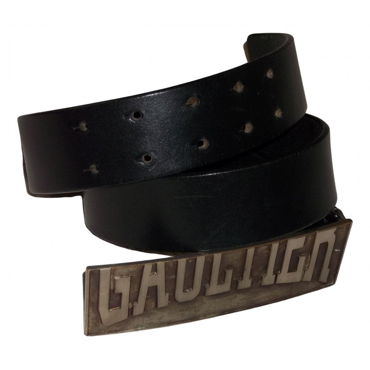 Jean Paul Gaultier \N Black Leather belt for Women 80 cm