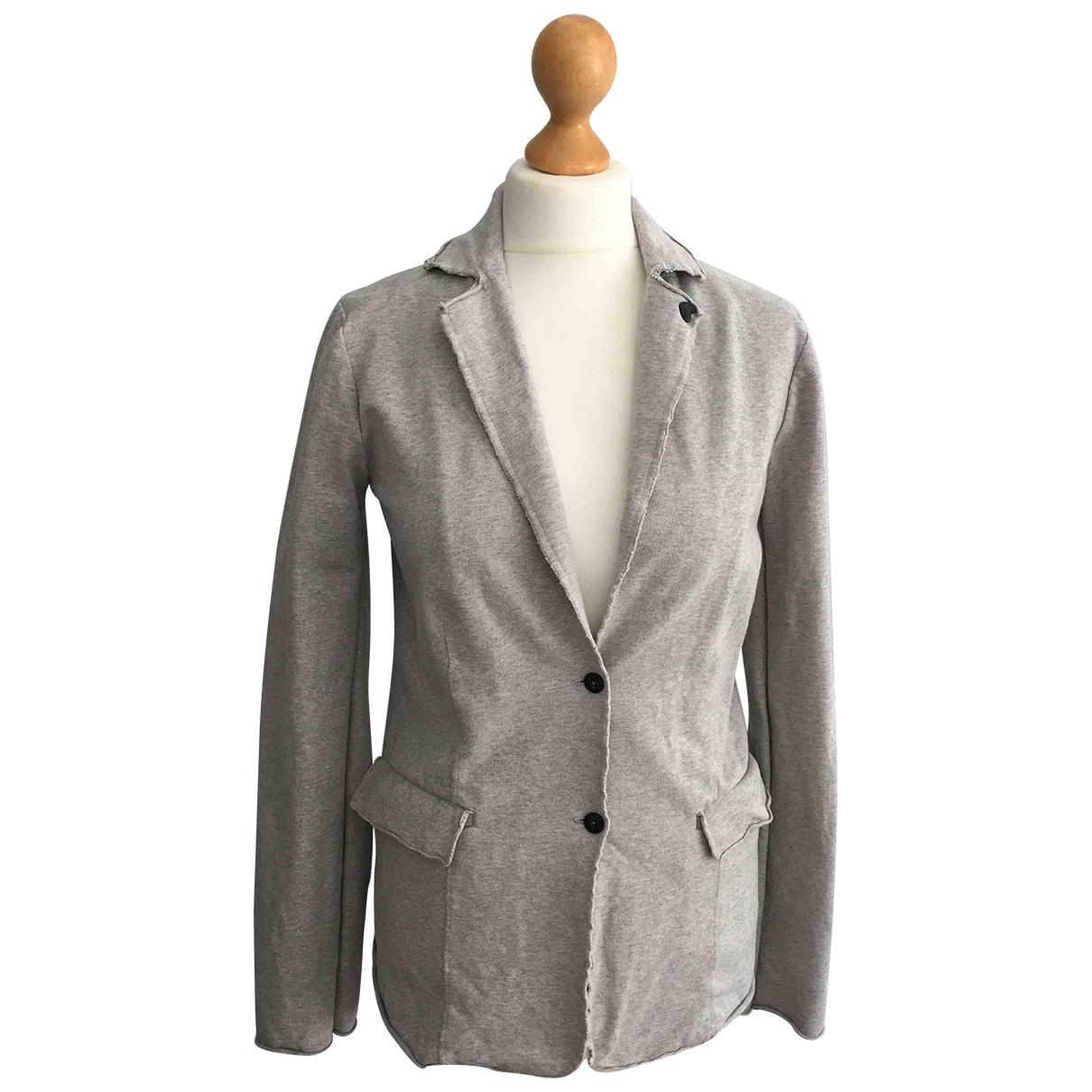 Scotch & Soda - Veste   pour femme en coton - gris