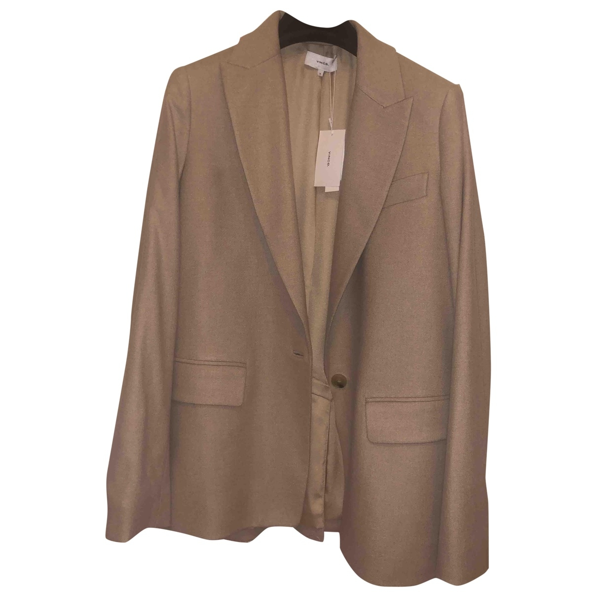 Vince - Veste   pour femme en laine - beige