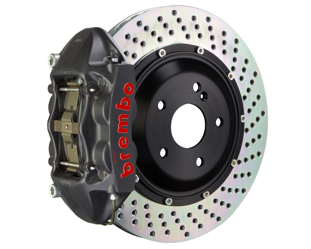 Brembo GT-S 345x28 2-Piece 4 Piston Hard Anodized Drilled Rear Big Brake Kit