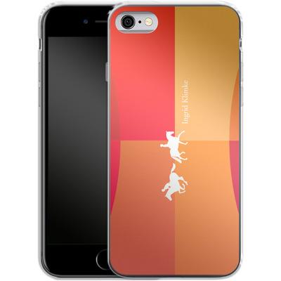 Apple iPhone 6s Silikon Handyhuelle - Geometric Silhouette von Ingrid Klimke