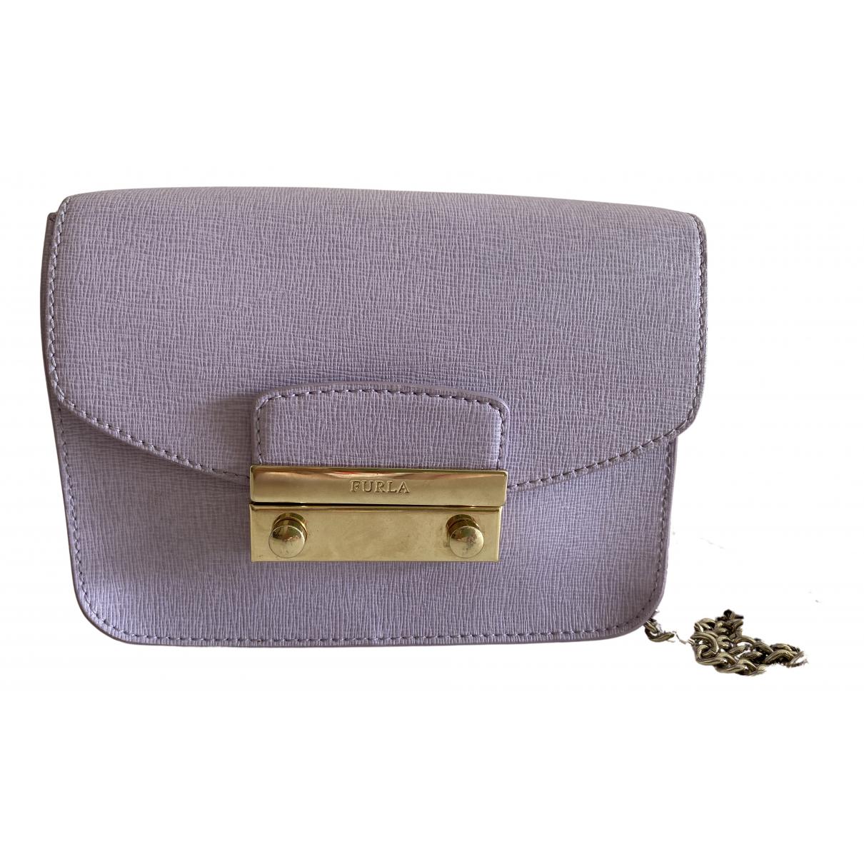Furla - Pochette Metropolis pour femme en cuir - violet