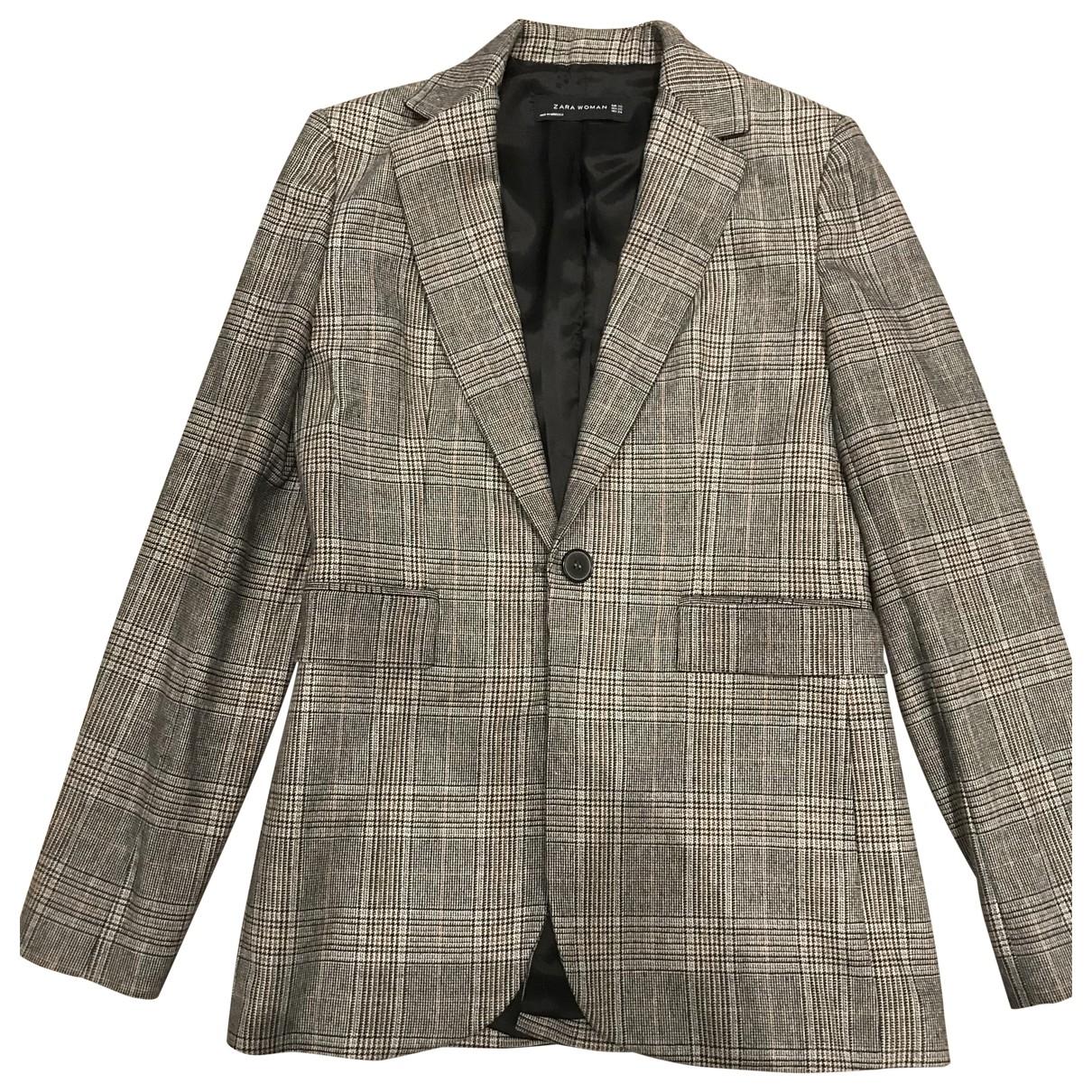 Zara - Veste   pour femme en laine - multicolore