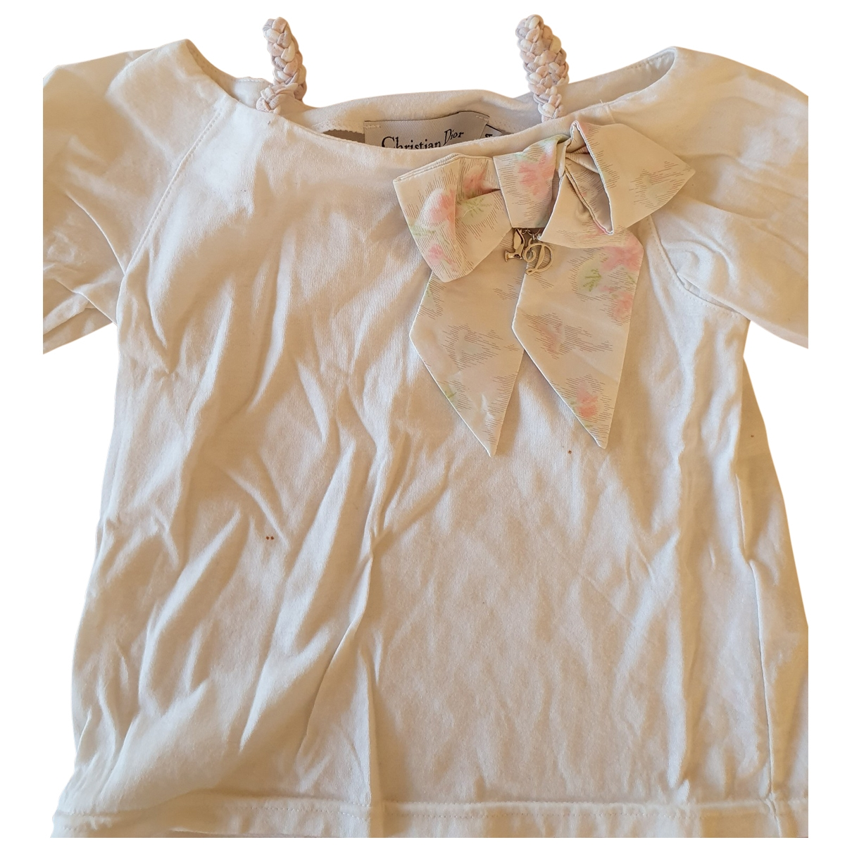 Dior \N White Cotton  top for Kids 4 years - up to 102cm FR