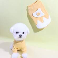 Sudadera con perro de color combinado