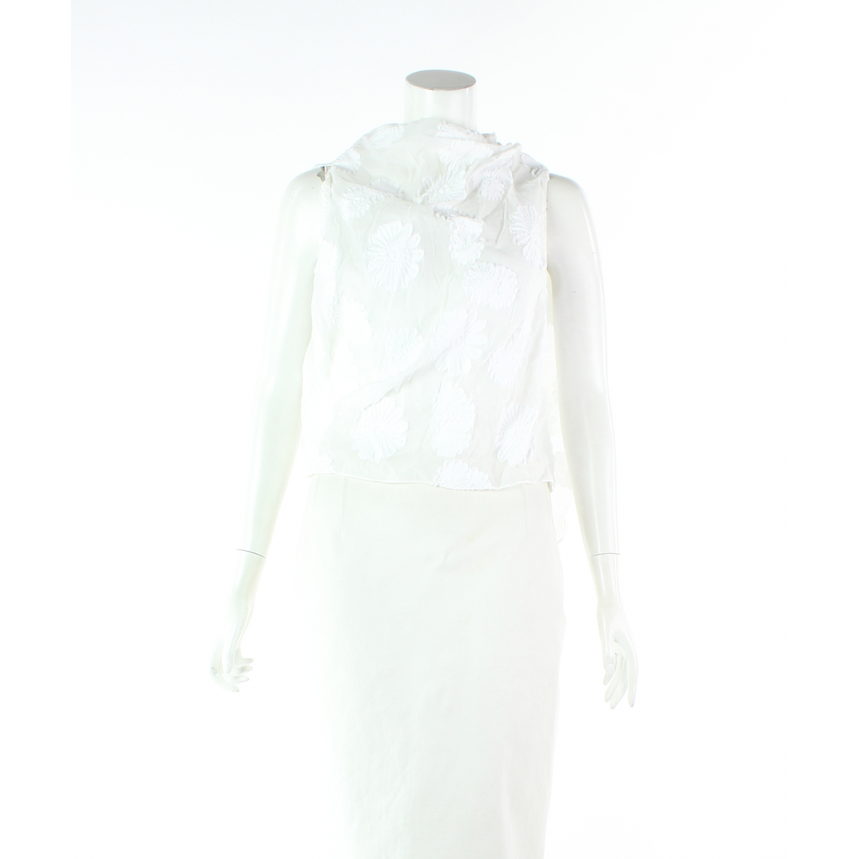 Roland Mouret \N White Cotton  top for Women 12 UK