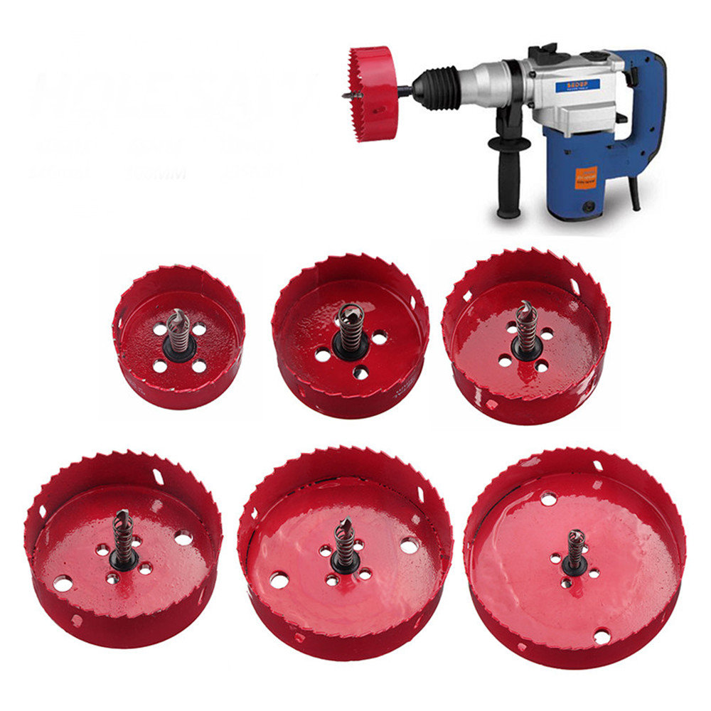 60-135mm M42 Metal Hole Saw Cutter Drill Bits With Rod For Aluminum Iron Pipe Woodworking