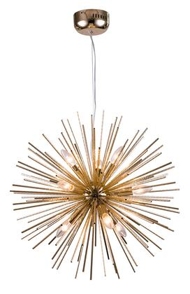 MU32 9-Light Ceiling Fixture with Aluminum Materials and 40 Watts in Gold
