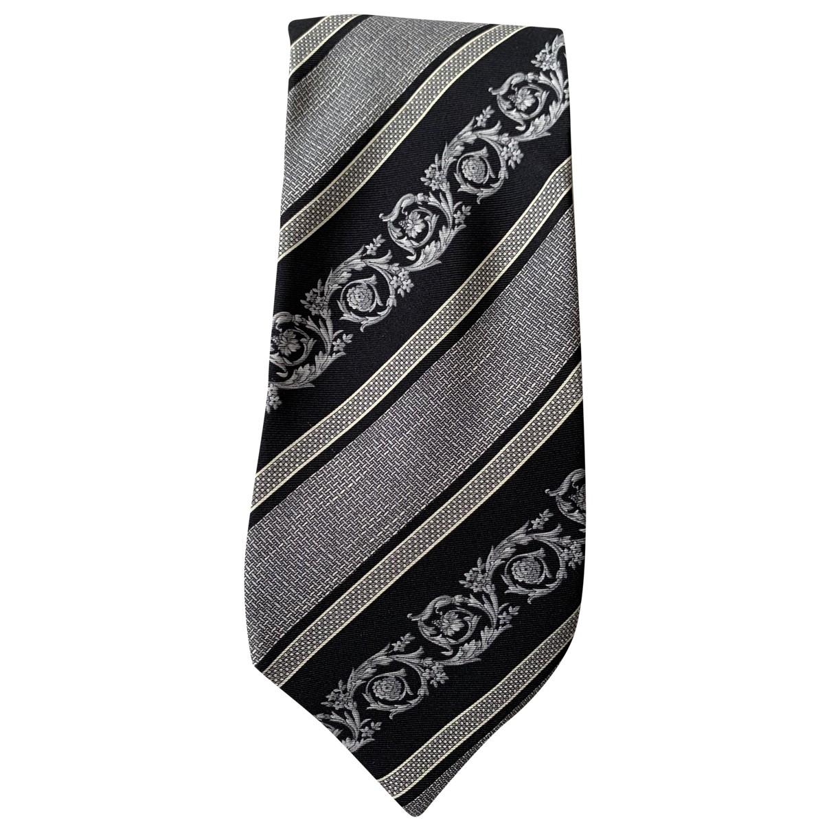 Versace - Cravates   pour homme en soie - gris