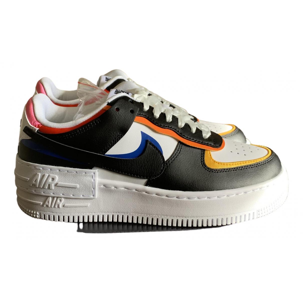 Nike - Baskets Air Force 1 pour femme en cuir - multicolore