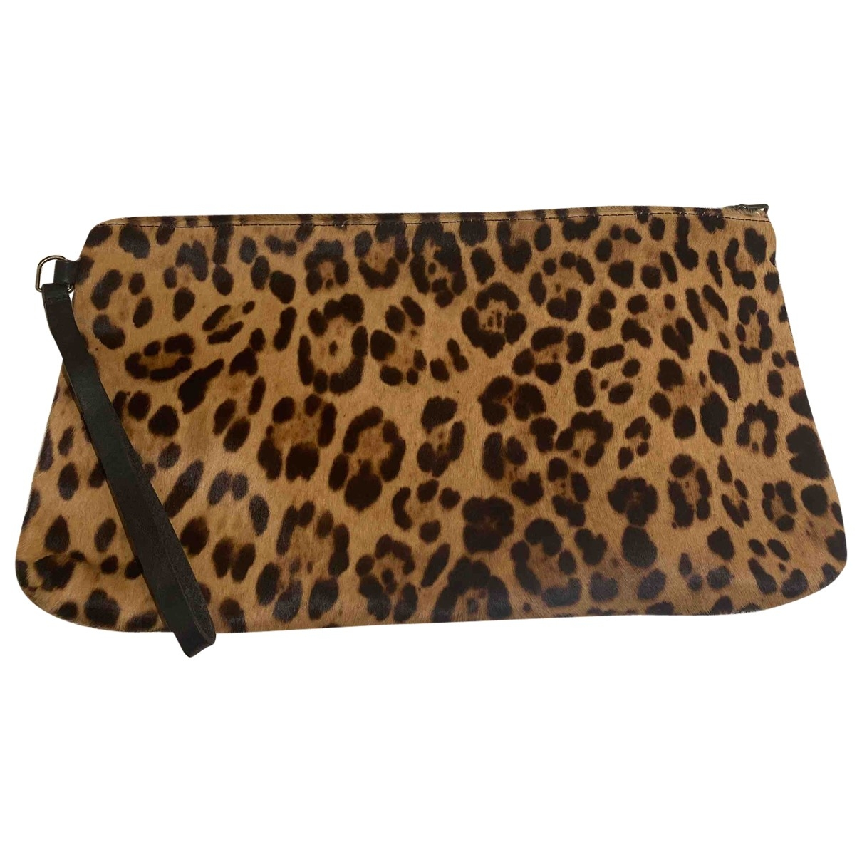 Forte_forte \N Clutch in  Bunt Kalbsleder in Pony-Optik