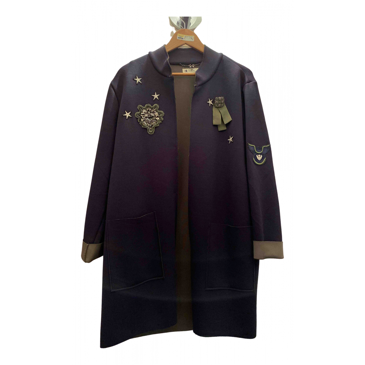 Non Signé / Unsigned \N Blue jacket for Women 44 FR