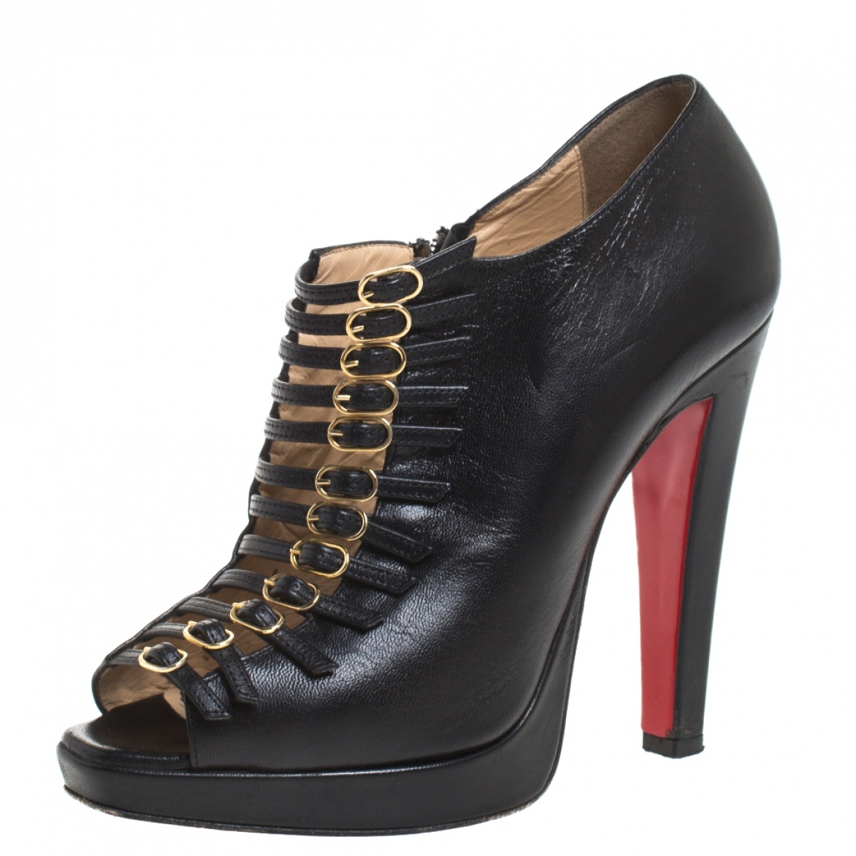 Christian Louboutin N Black Leather Ankle boots for Women 7 US