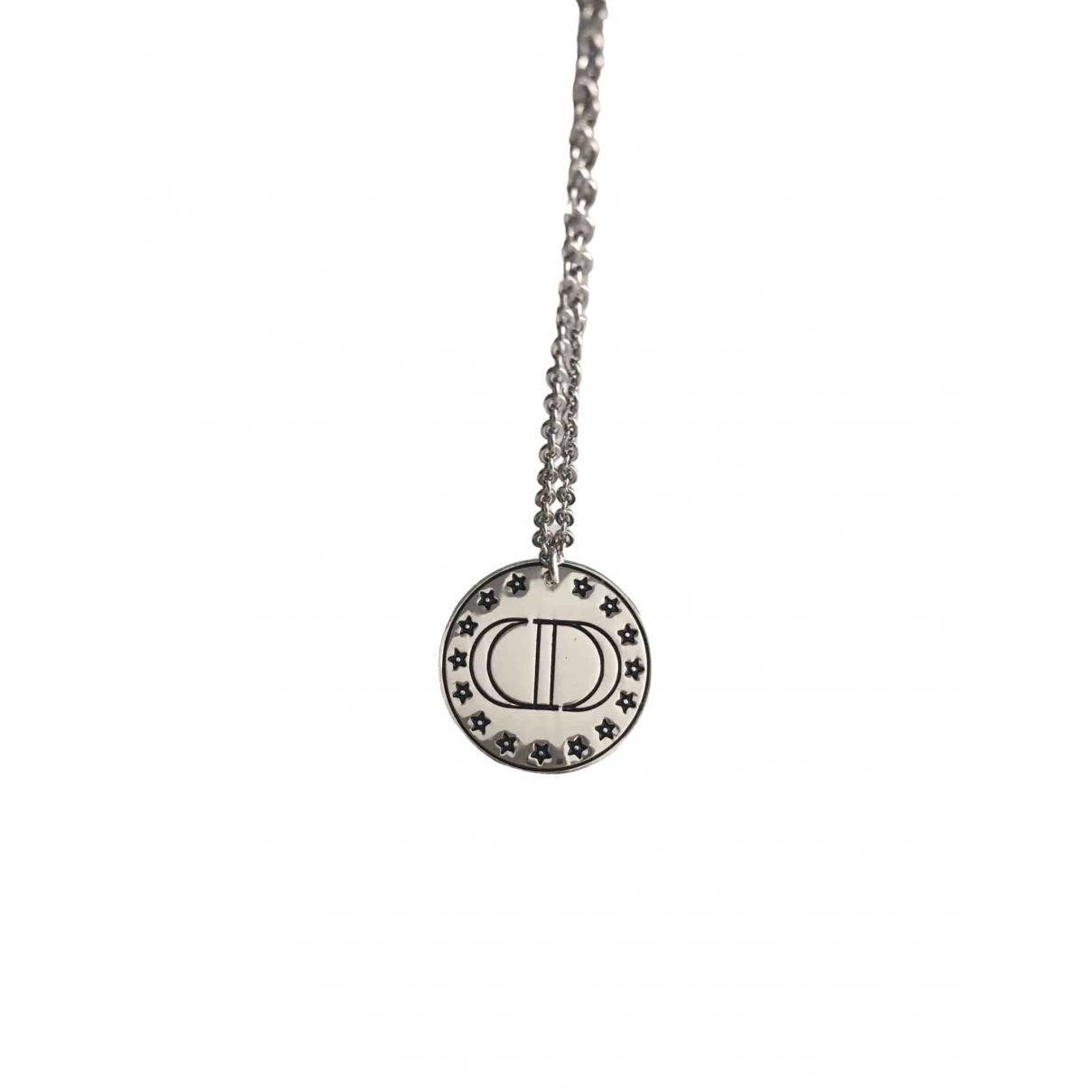 Dior Monogramme Halskette in  Silber Metall