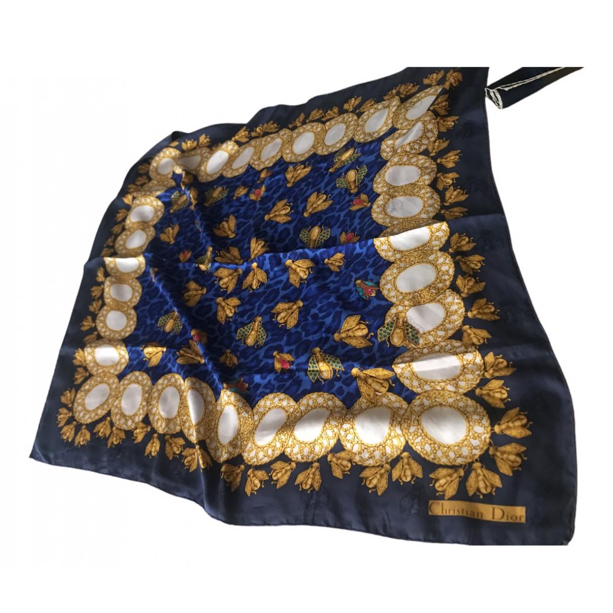Dior \N Blue Silk scarf for Women \N