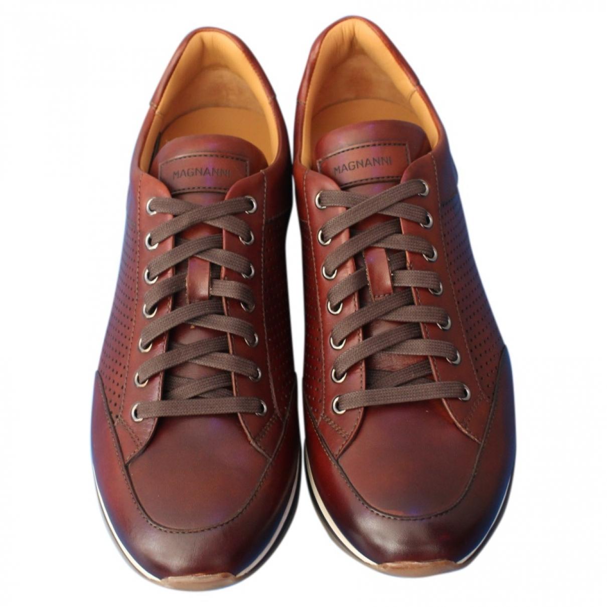Magnanni - Baskets   pour homme en cuir - marron