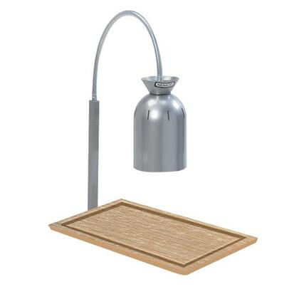 6016 Single Bulb Carving Station with Wooden Base - 120V  250W  in
