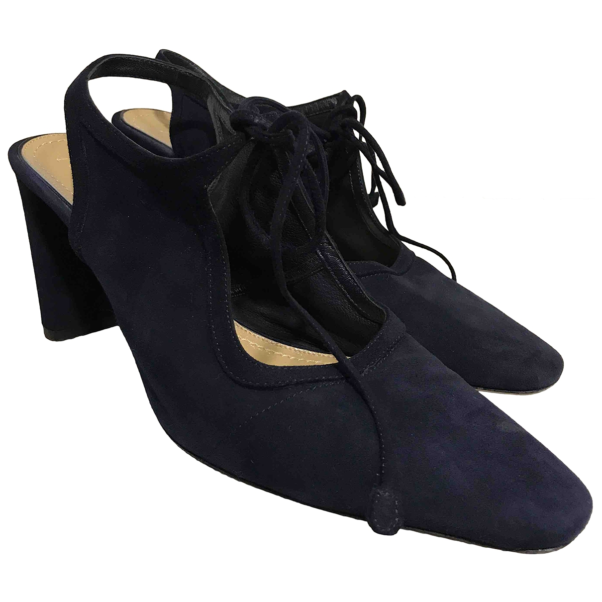 The Row \N Navy Suede Heels for Women 39 EU