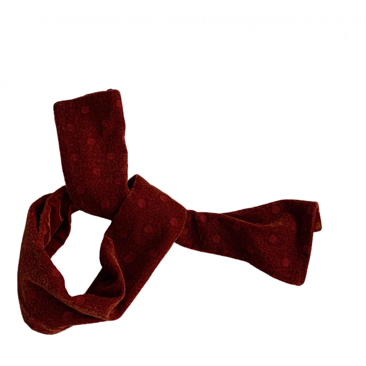 Delvaux \N Schal in  Rot Viskose