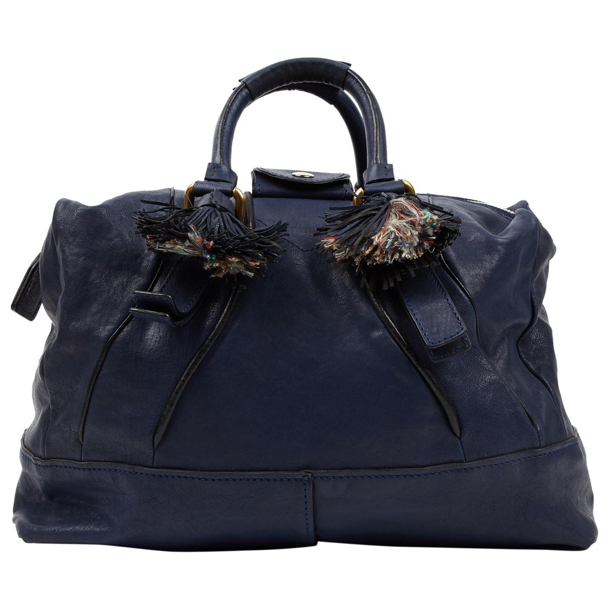 Chloé \N Navy Leather handbag for Women \N