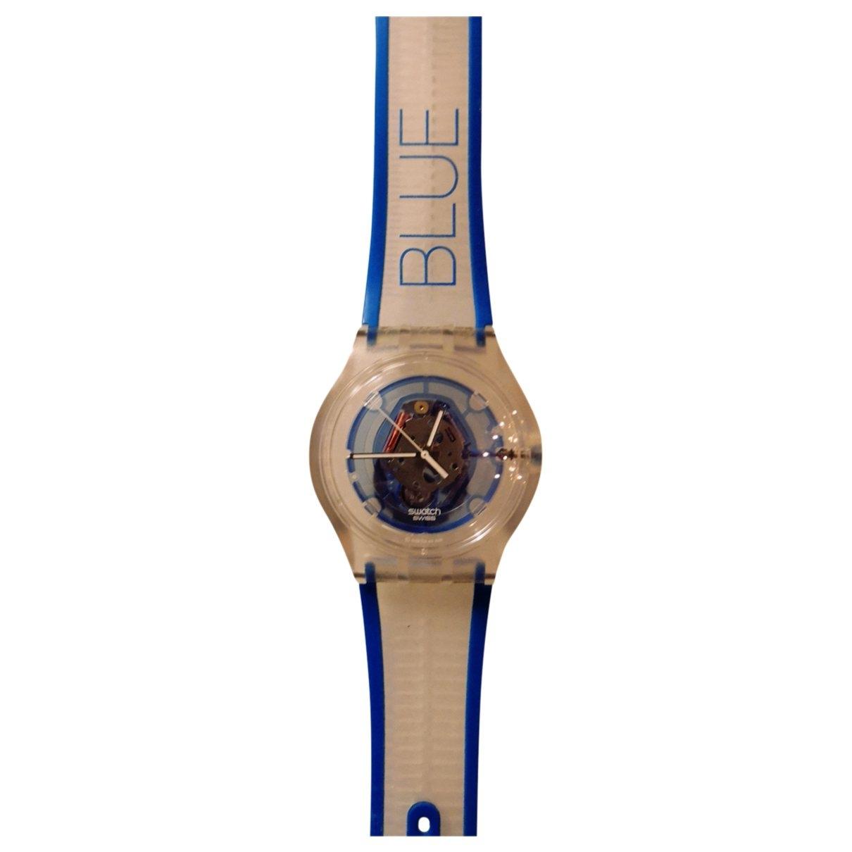 Swatch \N Uhr in  Weiss Kautschuk