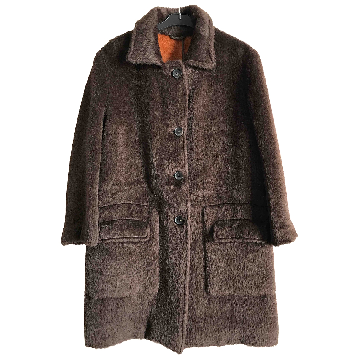 Etro \N Maentel in  Braun Wolle