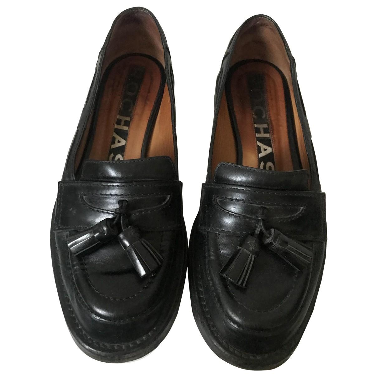 Rochas \N Mokassins in  Schwarz Leder