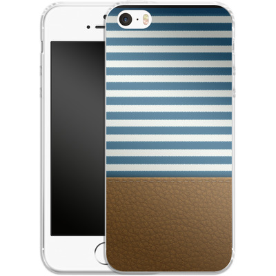 Apple iPhone SE Silikon Handyhuelle - Nautical von caseable Designs