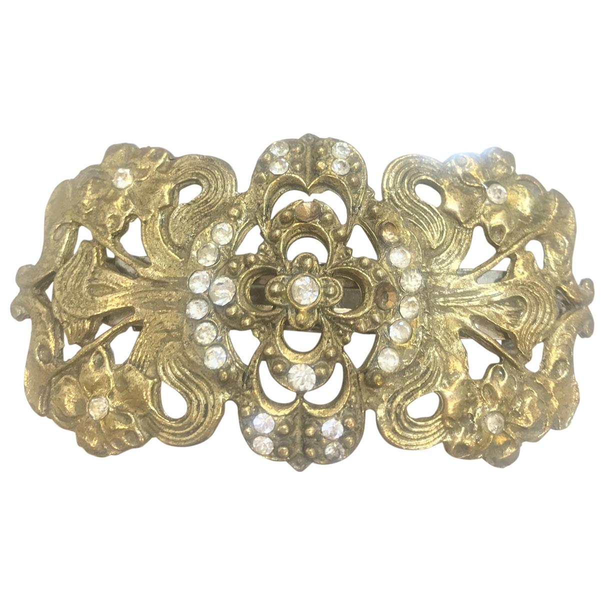 Non Signe / Unsigned Art Deco Haarschmuck in  Gold Metall