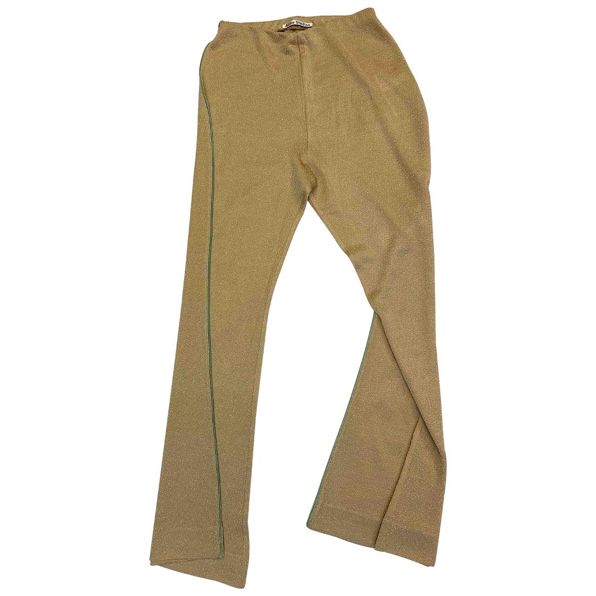 Acne Studios \N Beige Trousers for Women L International