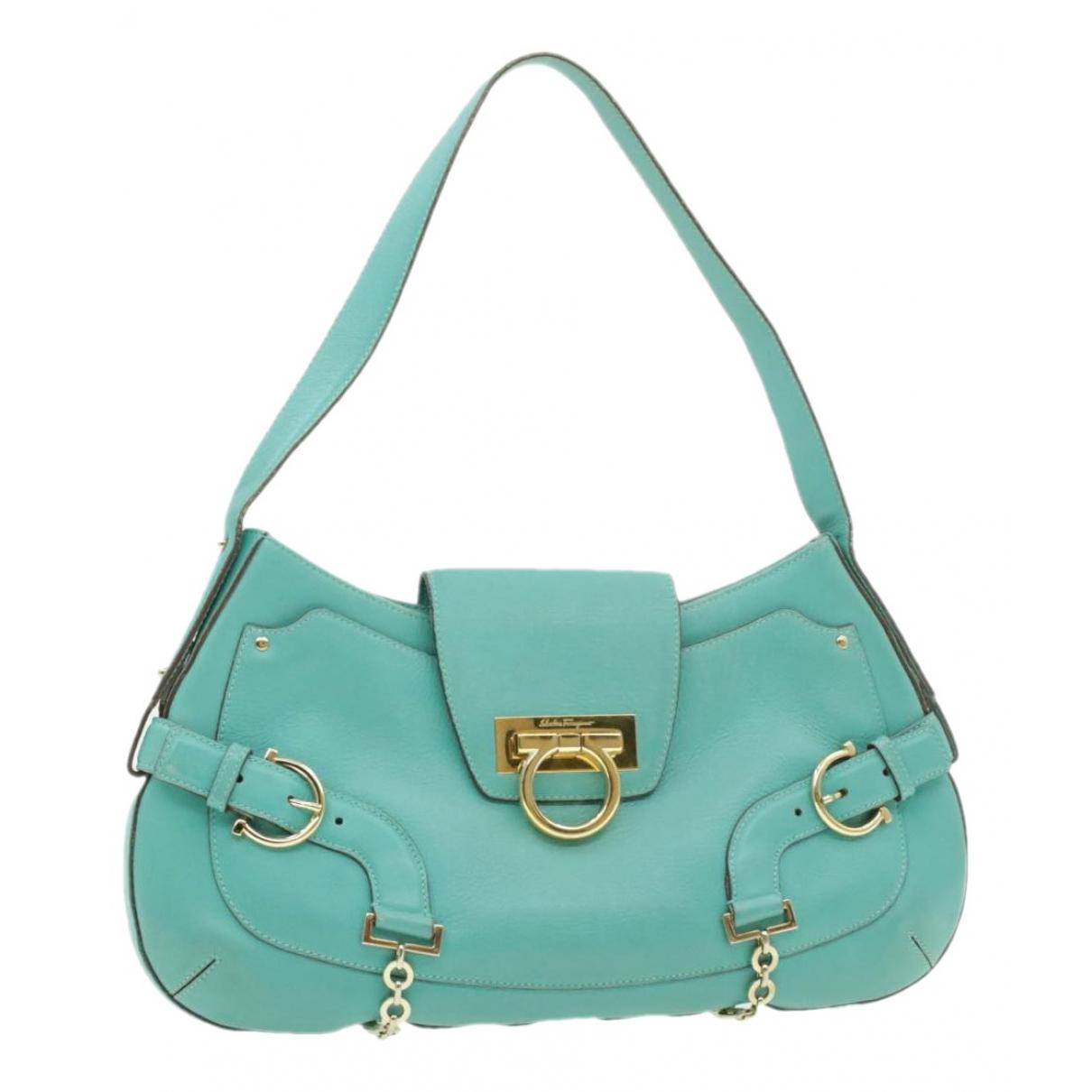 Salvatore Ferragamo \N Handtasche in  Blau Leder
