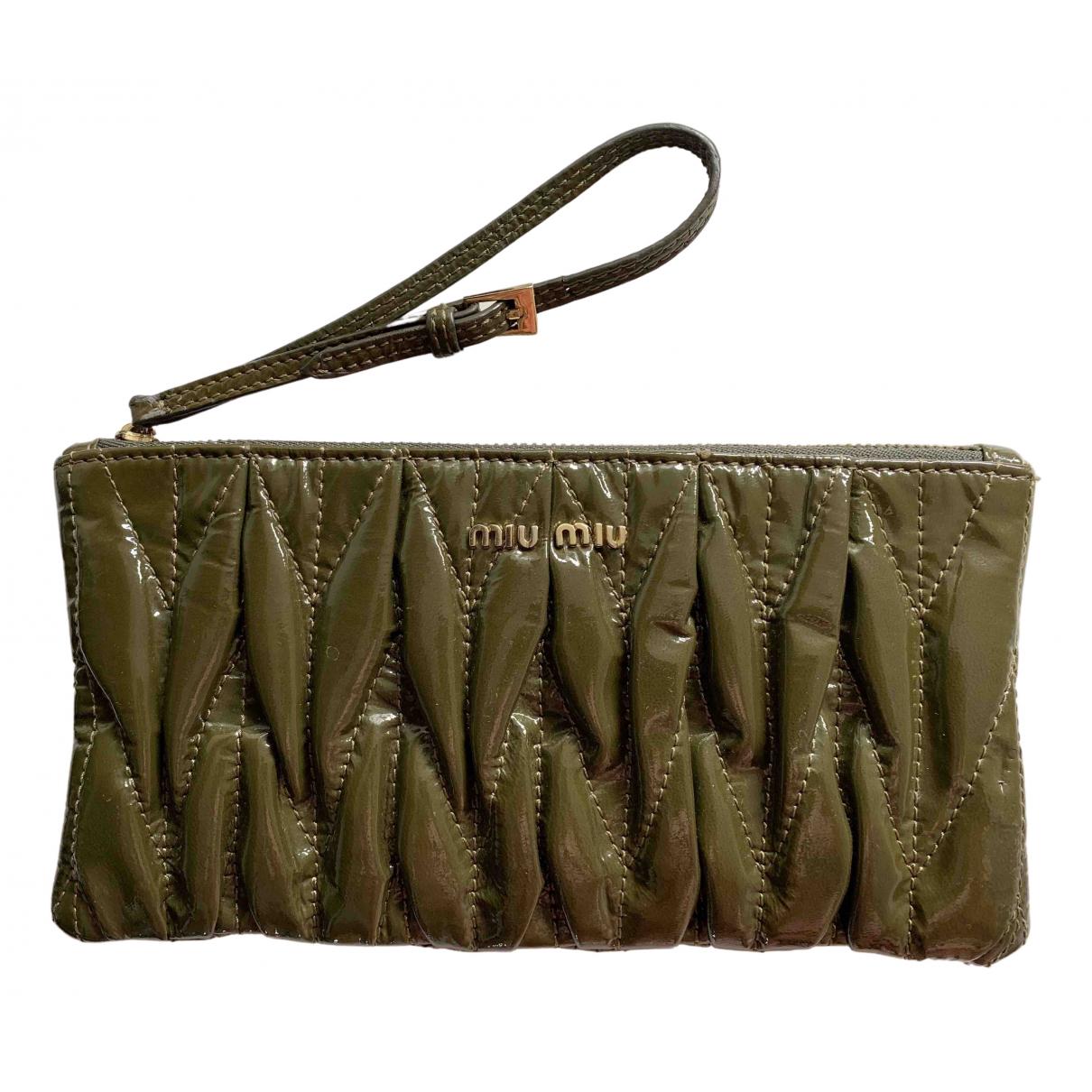 Miu Miu N Green Patent leather Clutch bag for Women N