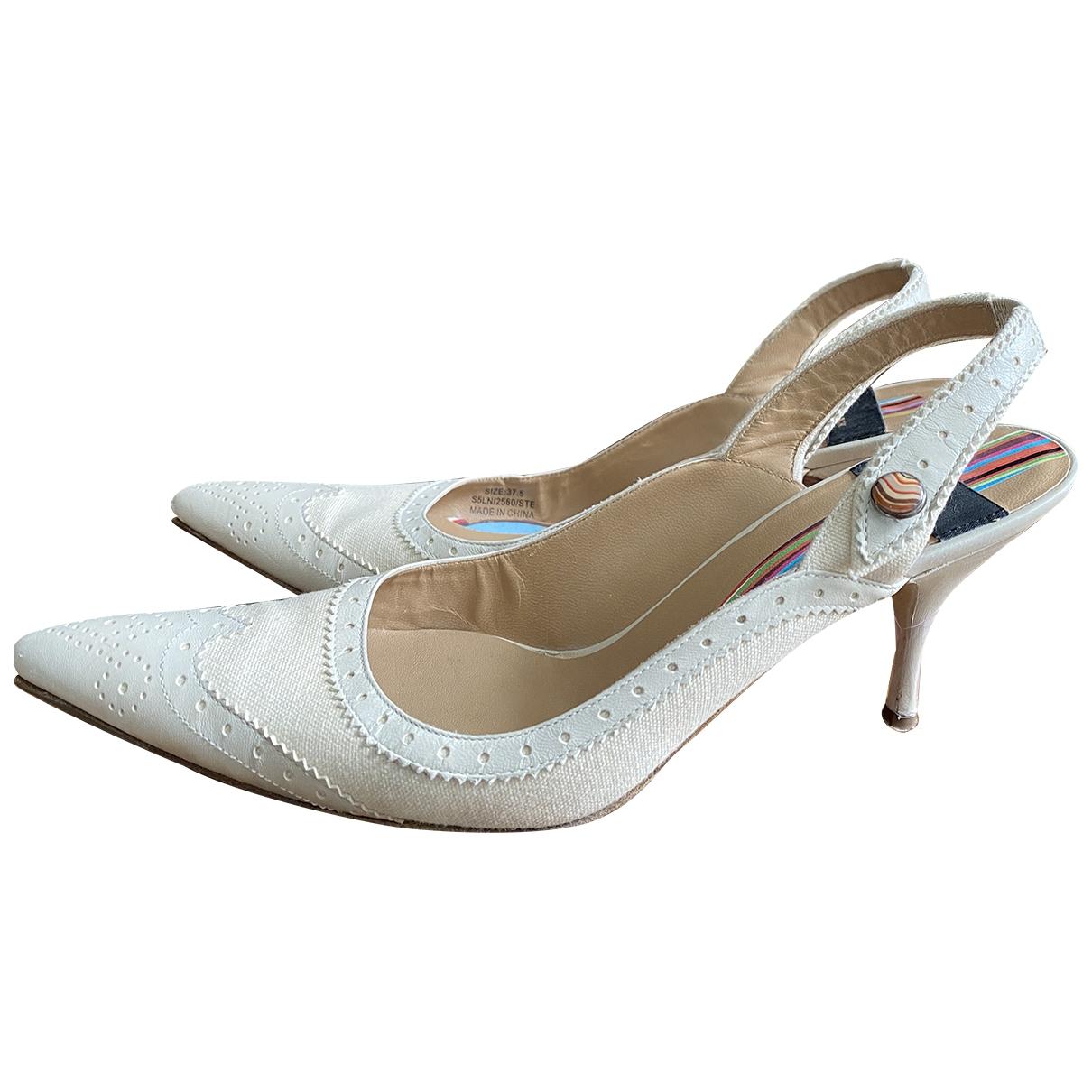 Paul Smith \N Ecru Cloth Heels for Women 37.5 EU