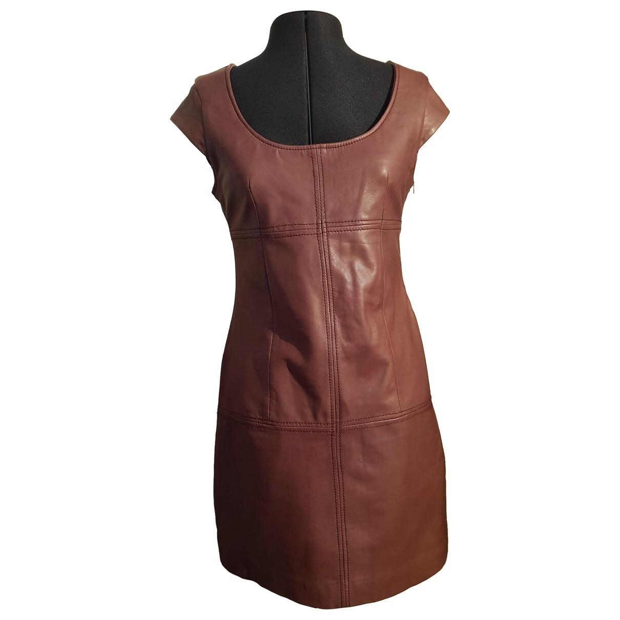 Supertrash - Robe   pour femme en cuir - bordeaux