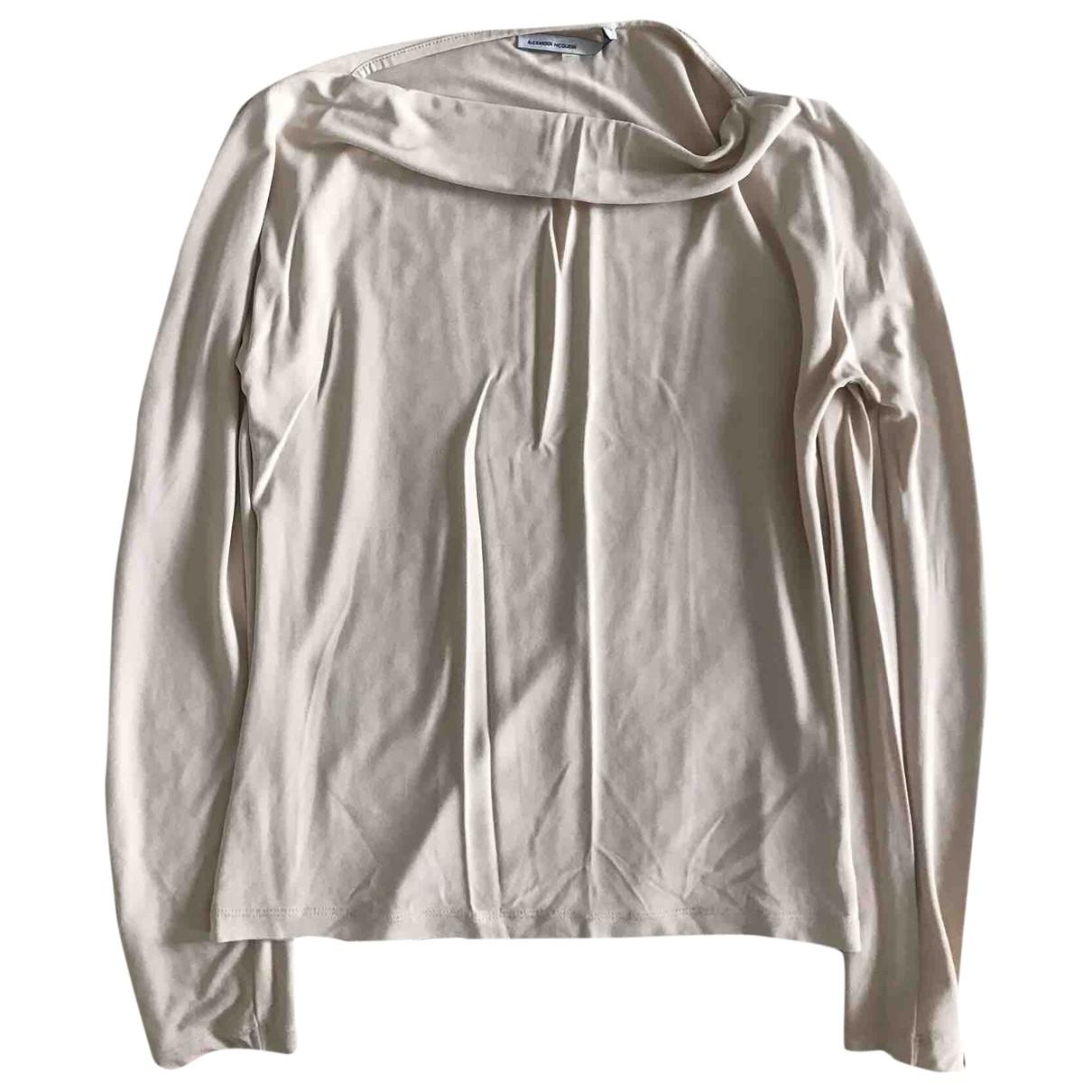 Alexander Mcqueen - Top   pour femme en coton - beige