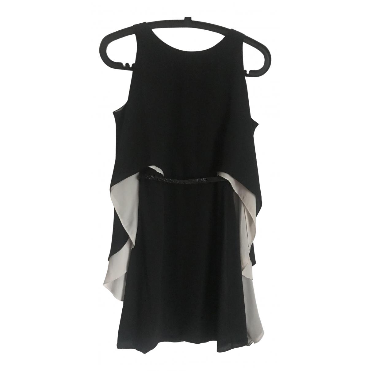 Halston \N Kleid in  Schwarz Polyester